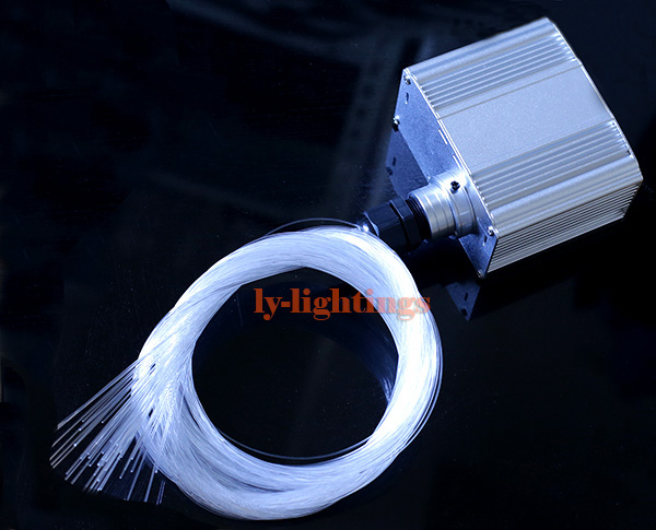 DIY optic fiber light kit led light +150pcsx0.75mmx2m optical fibre color change twinkle star ceiling light 20W RGB IR remote цена