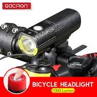 Gaciron 1000Lumen Bicycle Headlight Waterproof Front Flashlight Professional MTB Road Bike LED Light USB Rechargeable Power