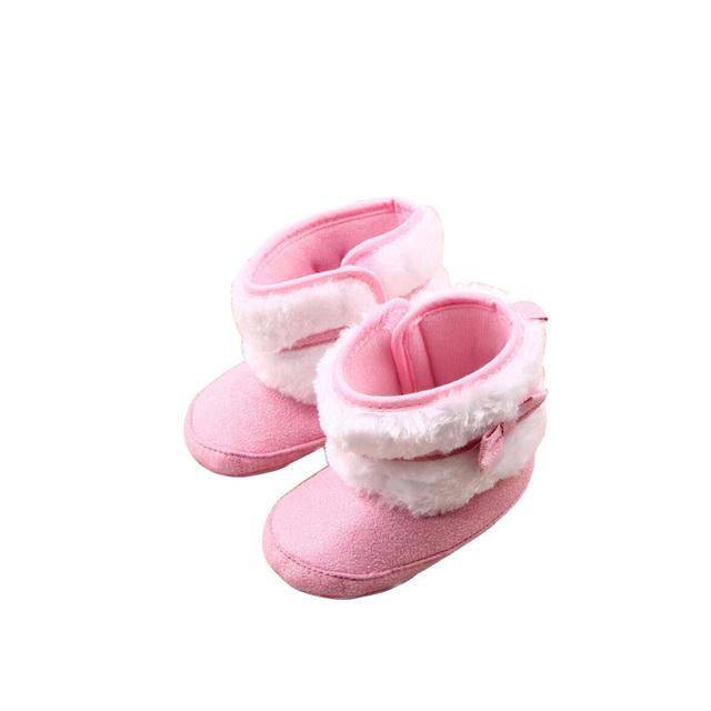 Bebé zapatos de La nueva del invierno Del Bowknot es alta para bebé de algodón inferior suave zapatos del niño SWC207