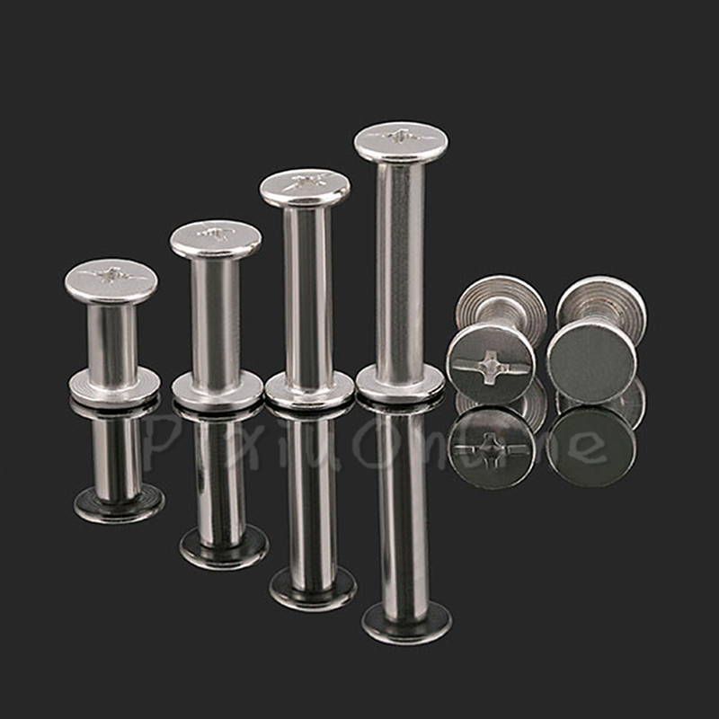 20PCS ST142b M5 Butt Screw Binding Screw Rivet Nickel Plated SYBS 6/8/10/12/15mm Flat Head Screw Cross Metric connection tool uxcell 10pcs 5mmx10mm nickel plated binding chicago screw post for album scrapbook