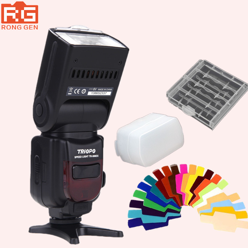 Triopo TR-586EXC Wireless Mode TTL Flash Speedlite for Canon EOS 5D Mark II 5D3 7D 6D 600D 70D 650D 550D 5DIII 5D II 450D аккумулятор canon lp e6n for eos 5d mark ii eos 5d mark iii eos 7d eos 7d ii eos 6d eos 60d eos 70d