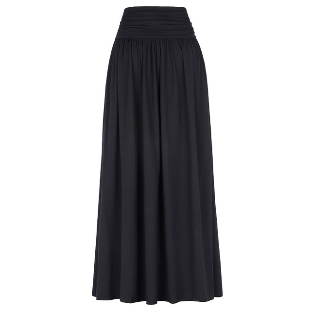 Floor Length Pleated Skirt