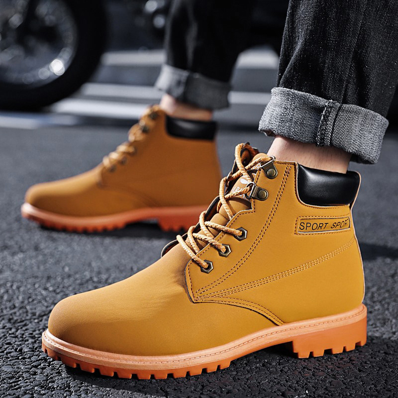 New Suede Leather 2018 Autumn Winter Shoes Men Chelsea Boots Fashion Men's Boots Male Brand Ankle Boots Warm For Cold Winter mulinsen new 2017 autumn winter men