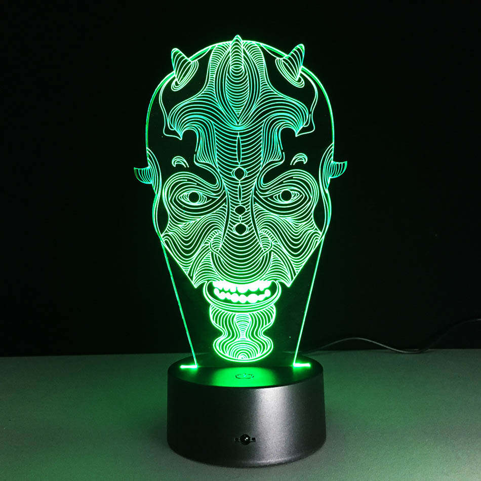 Lava lamp visualizer - The Clowns 3d Visual Led Nightlight Touch Usb Table Lampara Illusion Mood Dimming Lamp Atmosphere 7
