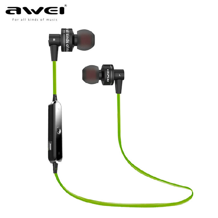 Awei A990BL Wireless Bluetooth stereo music earhud sports running earphone Handsfree headset fone de ouvido with Microphone 1