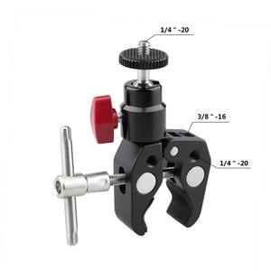 Image 4 - Crab Pliers Clip Super Clamp For DSLR Rig DJI Ronin M LCD Monitor Studio Light Magic Arm Camera+360 Swivel 1/4 Ball Head C1414