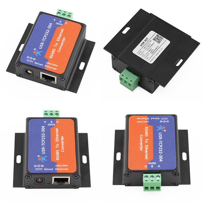 10Pcs USR TCP232 304 Serial RS485 to TCP IP Ethernet Server Converter Module with Built in