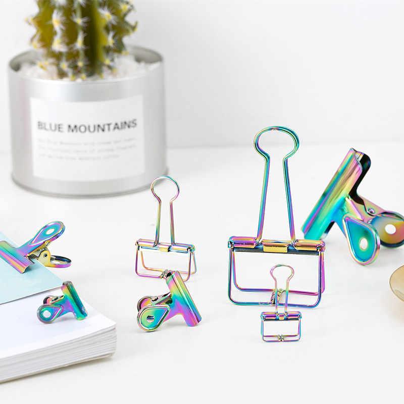 TUTU laser Craft Metal Photo rainbow Book spinacze do papieru spoiwo dekoracyjne biurowe organizer akcesoria stacjonarne H0285