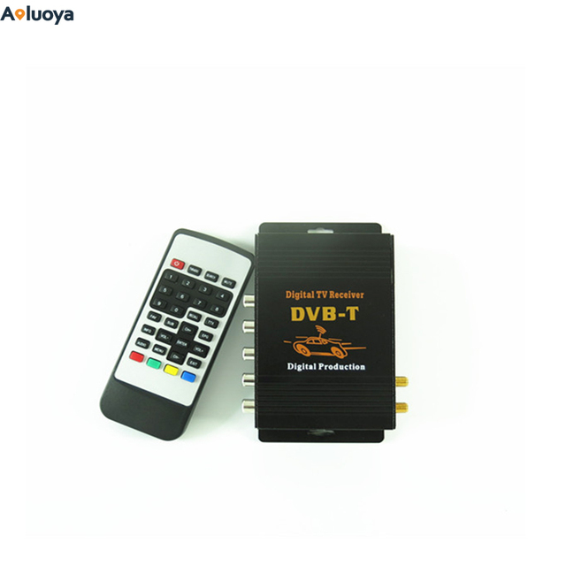 Aoluoya Newest DVB-T (MPEG-4)Dual-tuner Dual Antenna digital TV Receiver For car monitor suitable For Europe Middle-east Austra