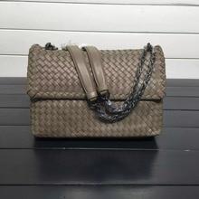 ISHARES sheepskin woven shoulder bags genuine leather chain bags women fashion design messenger bag crossbody cover bag IS168035 цены онлайн