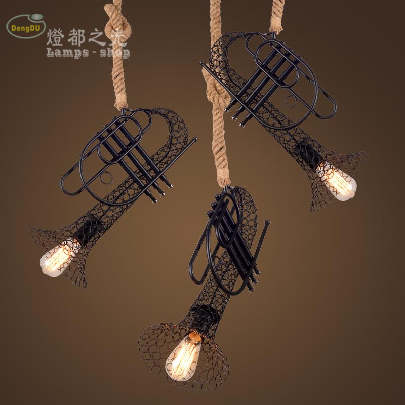 Cafe decoration pendant lamp NEW 50CM Vintage industrial hemp clothing store creative American retro pendant light Bar 2017 vintage edison chandelier rusty lampshade american industrial retro iron pendant lights cafe bar clothing store ceiling lamp