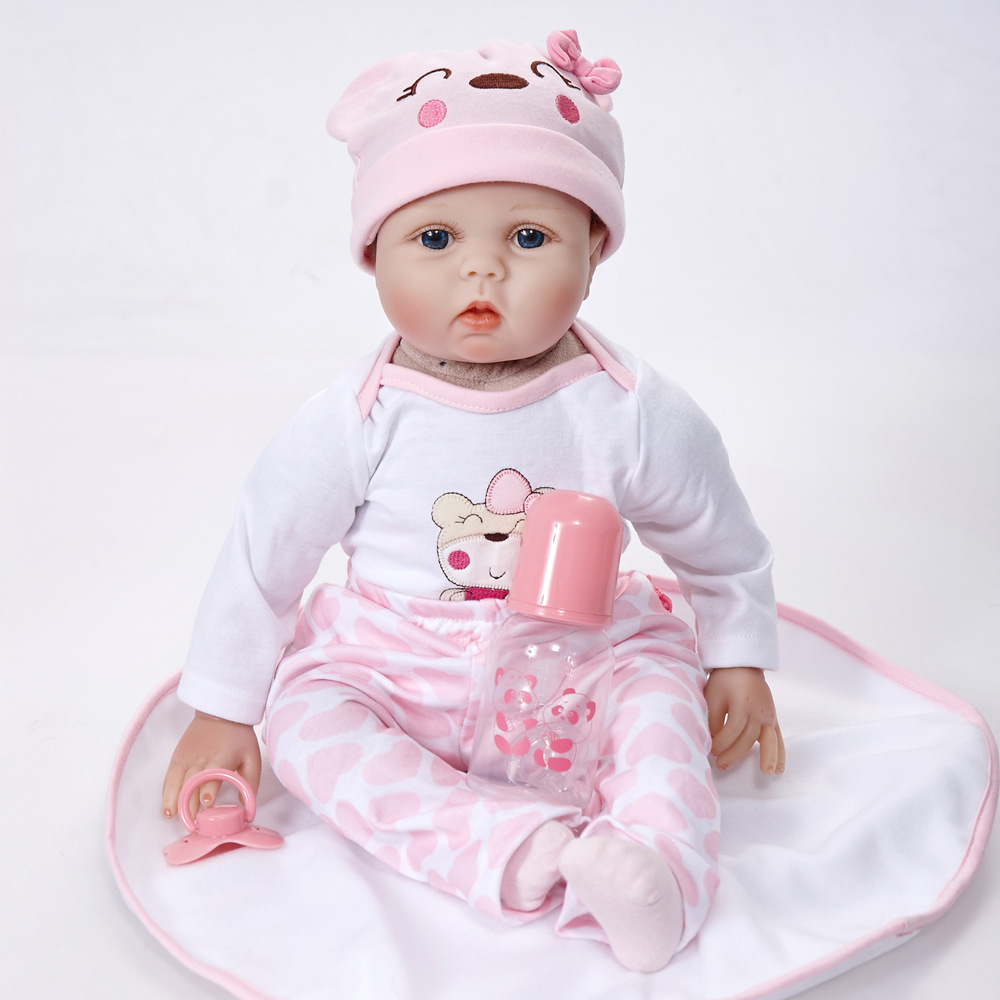 Lifelike Princess Girl Reborn Doll 22 Inch Soft Real Gentle Touch Silicone Newborn Babies Toys Baby Kids Birthday Xmas Gift