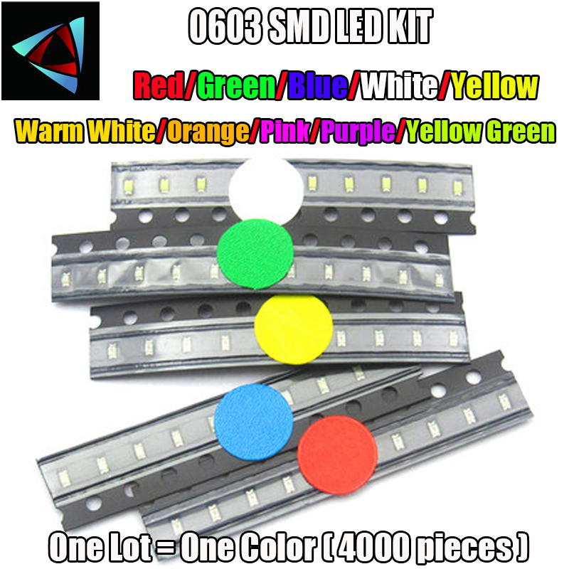 Electronic Components & Supplies 1000pcs X 3014 Blue Red Jade Green Orange Warm White Yellow Ultra Bright Smd Led Indication Free Shipping Diodes