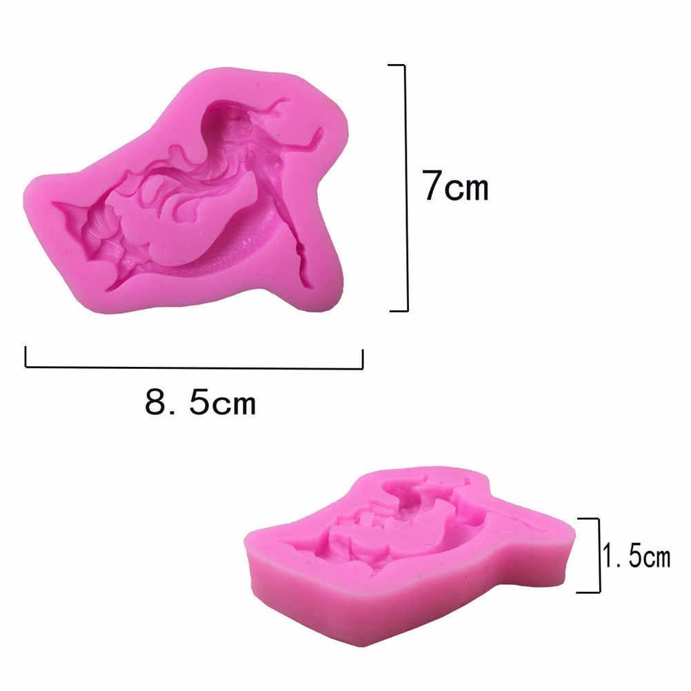 3D Cartoon backform Meerjungfrau mädchen fondant silikon dekoration mold DIY Kuchen Dekorieren Werkzeuge 8.5*7*1,5 cm