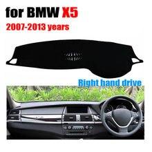 Painel do carro cobre para BMW X5 Baixo configuração 2007-2013 Right hand drive dashmat pad tampa do traço auto dashboard acessórios