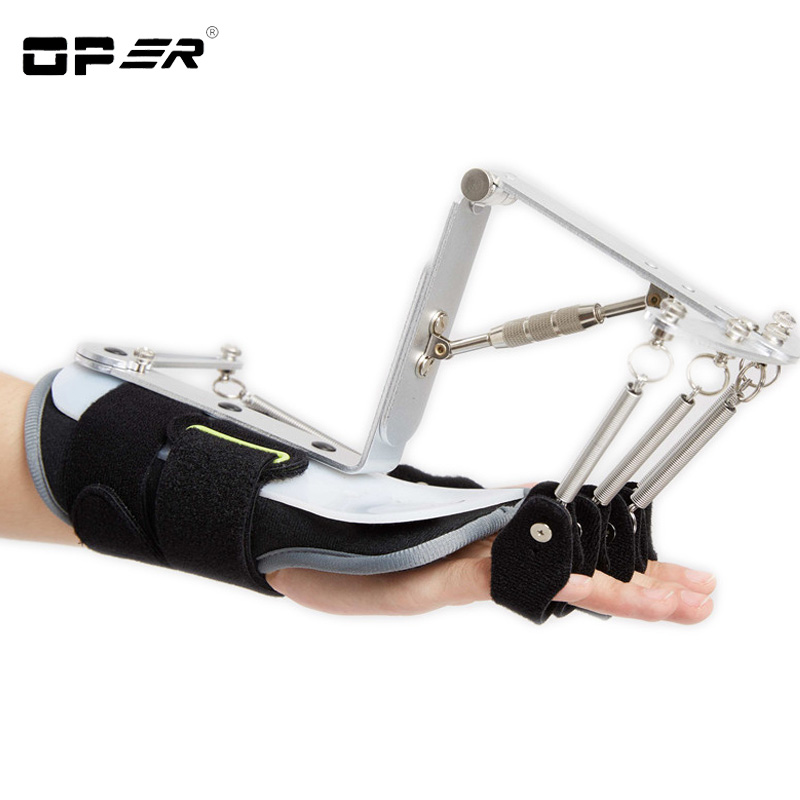 OPER Adjustable Finger Splint Joint Protection Orthotics Exerciser Stroke Hemiplegia Rehabilitation Cerebral Infarction Support