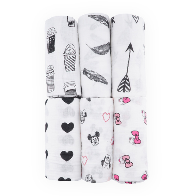 Cotton Swaddling Blankets for Infants with Cute Patterns
