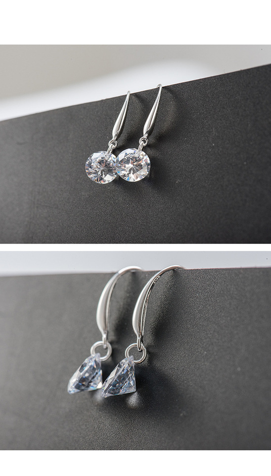 9ad7ab24e1bb 2019 joyería de moda 925 pendientes de plata cristal femenino de austriaco  nuevo nombre mujer pendientes gemelos micro set