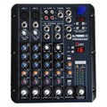 Freeboss SMR6 2 Mono + 2 stereo 6 Channels 3 Band EQ 1AUX 1 Return 16 DSP Effect USB Professional DJ Audio Mixer Console