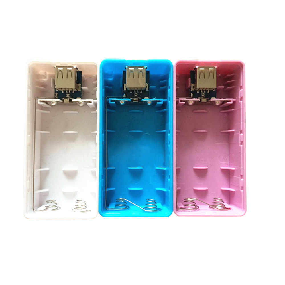 5600mAh 2 × 18650 USB 電源銀行バッテリ充電器ケース DIY ボックス電源銀行ケースキットバッテリー収納ボックスための Iphone Sumsang