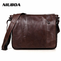 NIUBOA 100 Genuine Leather Men Messenger Bag Top Quality Casual Crossbody Bag Business Men S Handbag