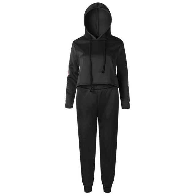 2 Piece Set Top And Pants Sexy Striped Ladies Leisure Two Pieces Pullover Suits 4