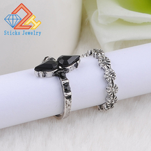 2pcs/Set Alloy vintage set ring