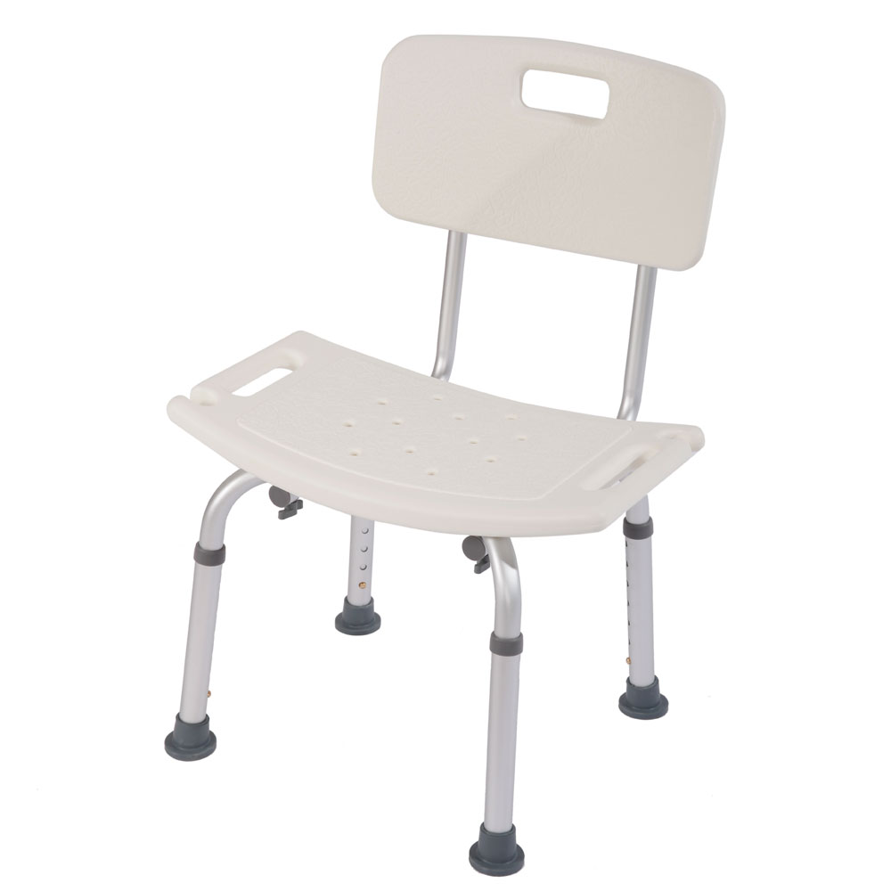 Adjustable Medical Shower Chair Bath Tub Seat Bench Stool Detachable ...