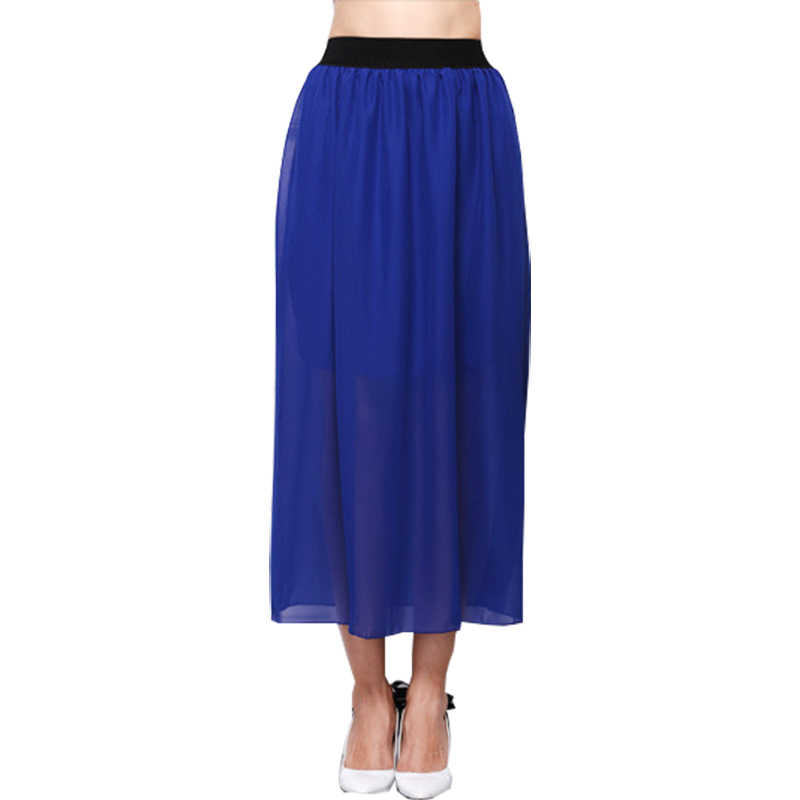 e39c9220f5 Skirts Women 2019 Elastic Waist Chiffon Large Size New women's Wear Europe  Foreign Trade Half Skirt