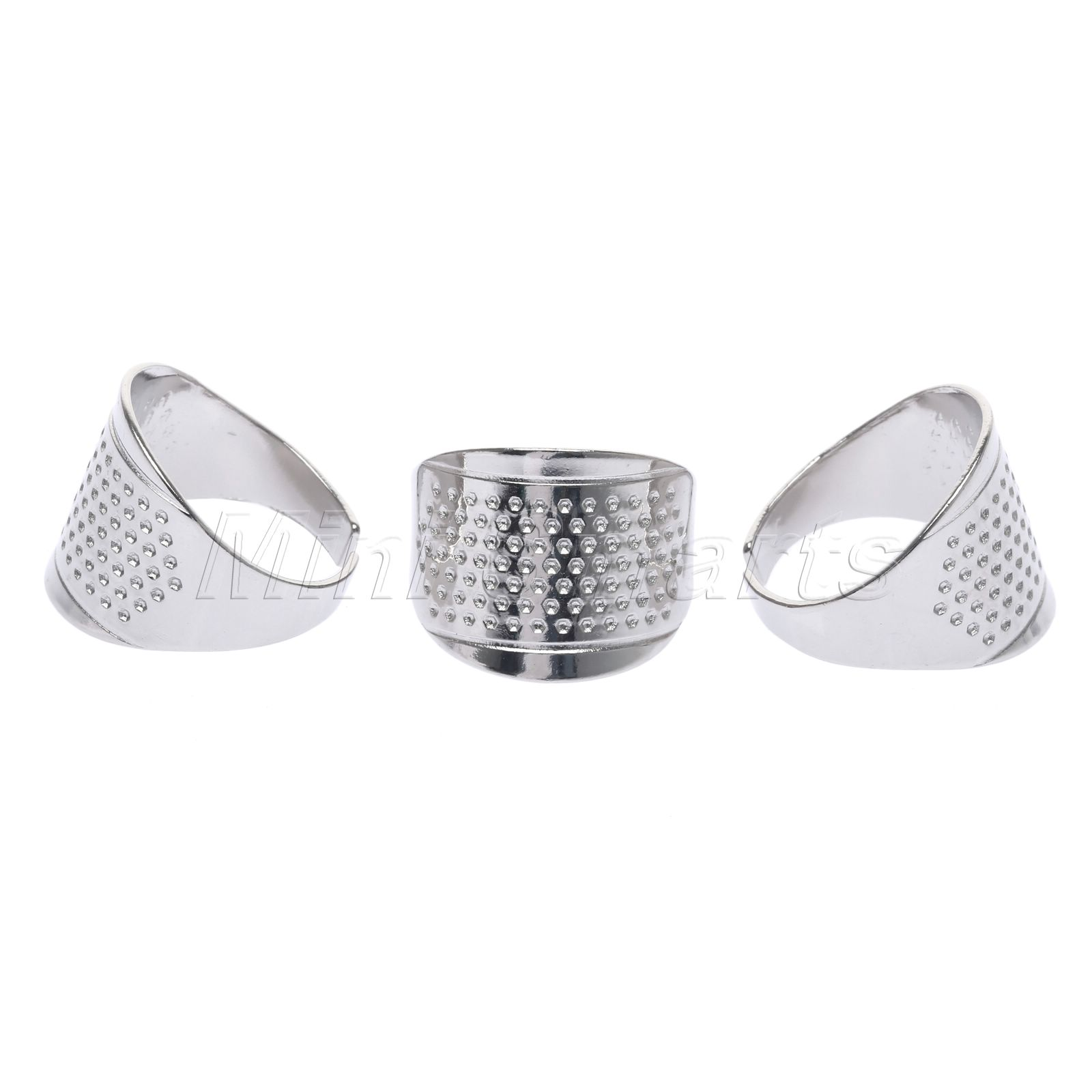 3X plastic sewing thimble ring with blade finger thimble thread cutter DIY tool