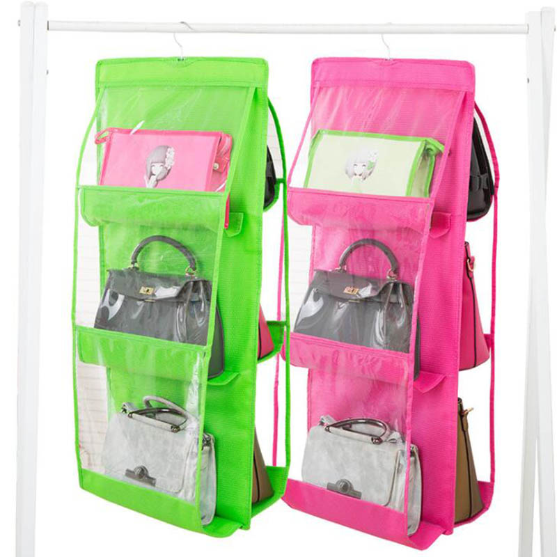 Двусторонний дизайн подвесной мешок 90 см x 35 см x 35 см шкаф для хранения спальня хранение нетканый материал двухсторонний шесть сетки
