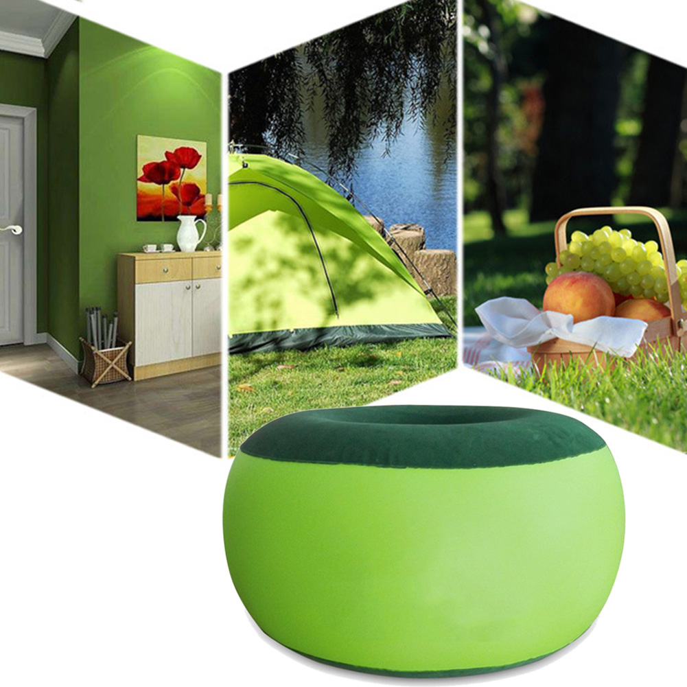 Inflatable Stool Thickening Cotton Cover Cartoon Plush Inflatable Pouf Chair