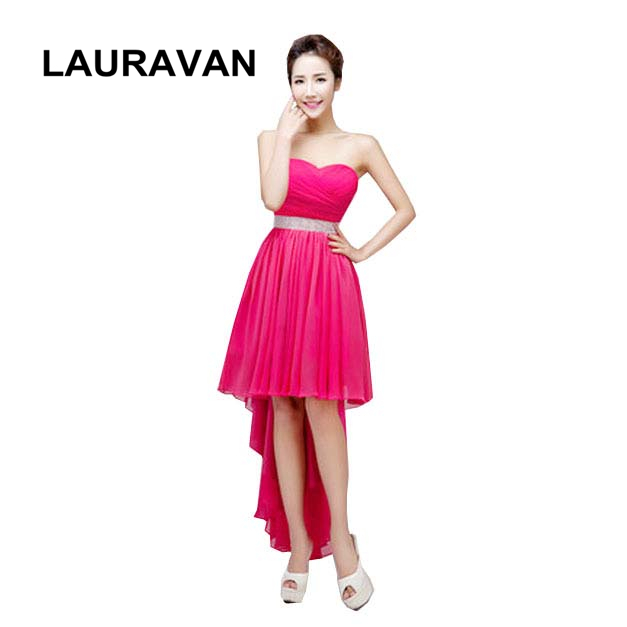 US $28.3 |semi formal short sweet 16 black hot pink fuchsia red blue purple  plus size women dress homecoming dresses simple party gown-in Homecoming ...