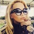 JinCool Мода Cat Eye ТОМ Солнцезащитные Очки 2016 Женщины Люксовый Бренд Дизайнер Старинные Негабаритных Солнцезащитные Очки UV400 Óculos feminino S147