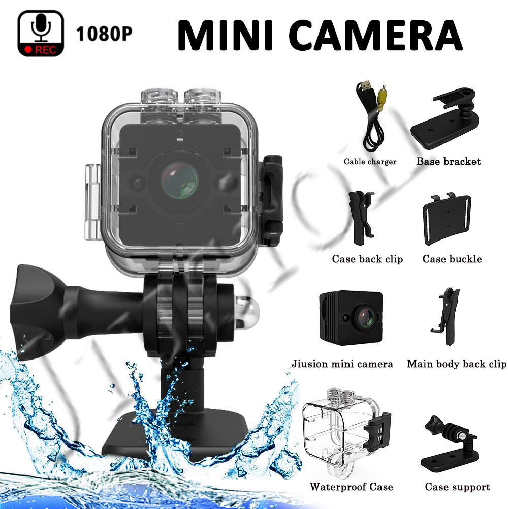 Sport Waterproof Mini Camera HD 1080P SQ12 Small Action Camcorder IR Night Vision Motion Sensor Video Voice Recorder Micro Cam