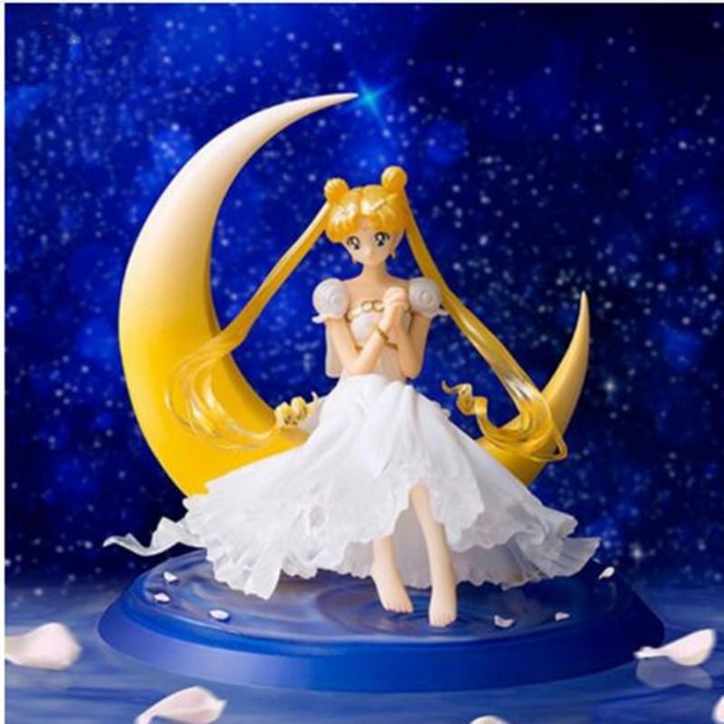 Sailor Moon Tsukino Usagi Princess Serenity SELENE chouette PVC Action Figure Collectible Model Toy RETAIL BOX DE139 sailor moon action figure 1 8 scale painted figure princess serenity doll pvc action figure collectible model toy 13cm kt3406