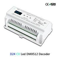 24 CV Canal Led DMX512 Decoder D24; DC5-24V entrada; saída PWM 3A * 24CH DMX512 led RGB tira decodificador controlador