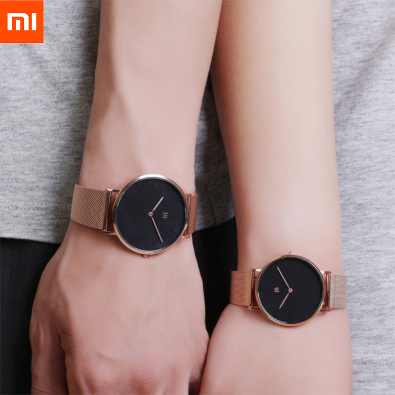 Xiaomi I8 Simple Quartz Watch Modern Design Light Luxury Watch Equipped With Steel Belt And Complimentary Leather Strap bright full moon 8 x12 cp computer painted scenic photography background photo studio backdrop dt sl 196