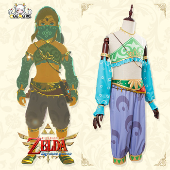 The Legend of Zelda Cosplay Sexy Gerudo Full Sets Breath of the Wild Link Cosplay Costume with Gloves Accessories Women