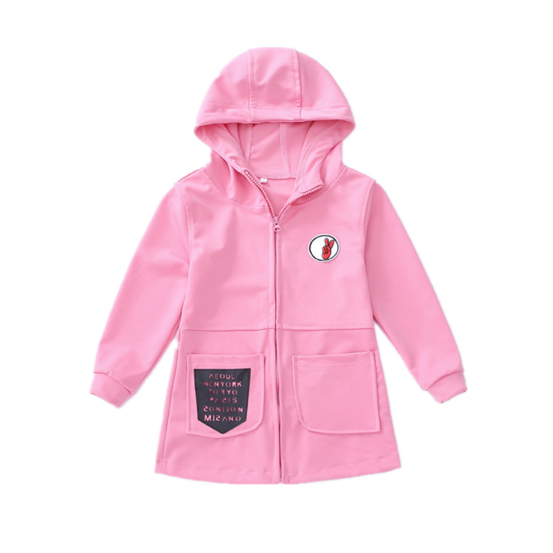 7e18fc6fd Children Autumn Spring Clothes Coat Baby Girls Pink Red Colour ...