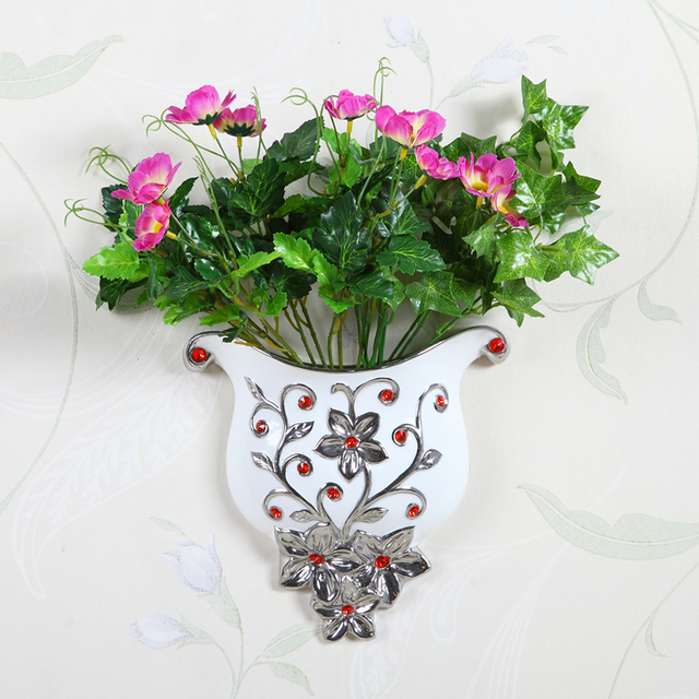 Ceramic Wall Hanging Wall Vase Household Adornment Sitting Room