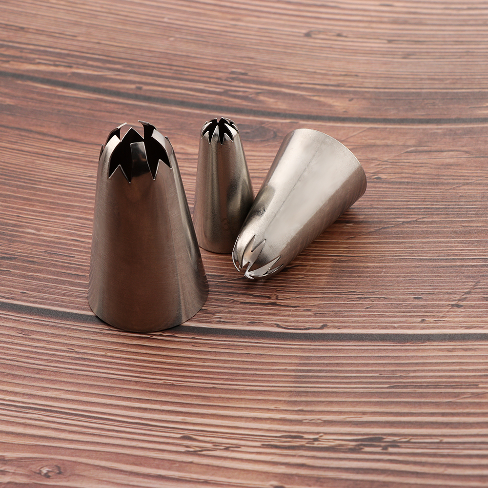 Stainless Steel Cakes Decorating Pastry Nozzles Cherry Blossoms Baking Tools