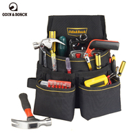 Odin Bosch Waterproof Pockets Oxford Tool Pouch Electrician Tool Belt Waist Pocket Tool Belt Pouch Work