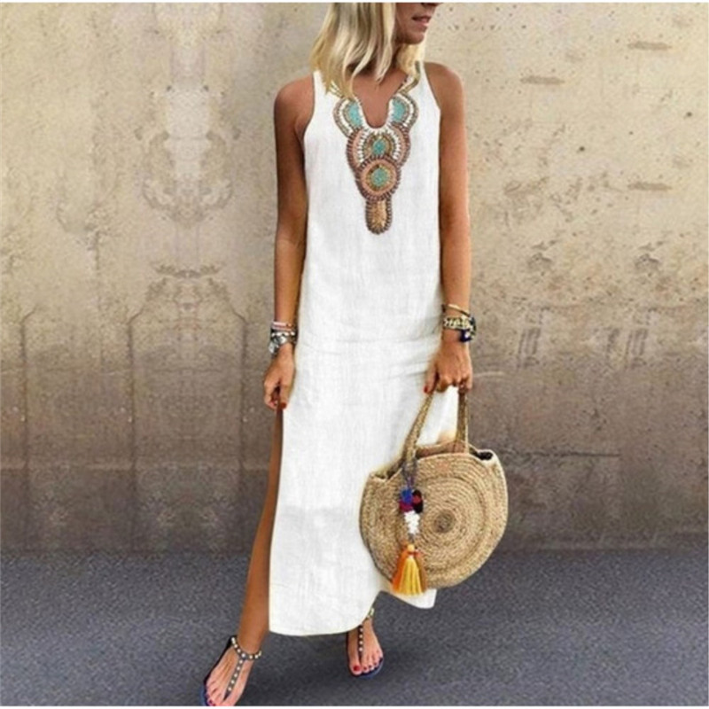 2019 Summer Long Dress Boho Beach Dress Tunic Maxi Dress Women Evening Party Dress Sundress Vestidos De Festa XXXL