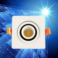 Super heldere Vierkante Dimbare COB Led downlight 10 W/15 W 220 V/110 V Verzonken LED Plafond licht beneden Lamp Wit/warm wit