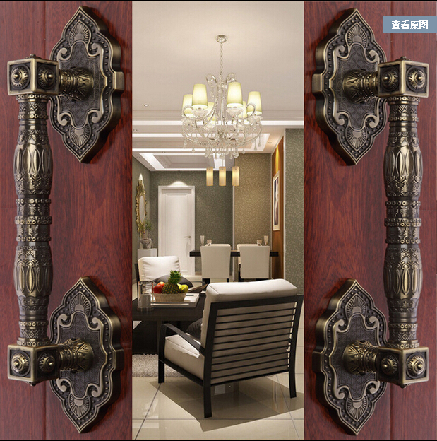 2 pcs Door shake handshandle european-style villa hardware2 pcs Door shake handshandle european-style villa hardware