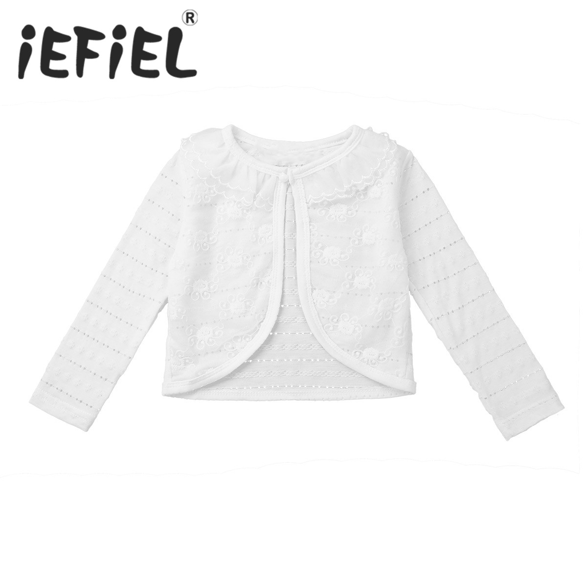 480b1b7ade iEFiEL Kids Girls Children Baby Cape Short Jacket Princess Party Wool Cloak  Girls Faux Fur Bolero Shrug Spring Wedding Jacket