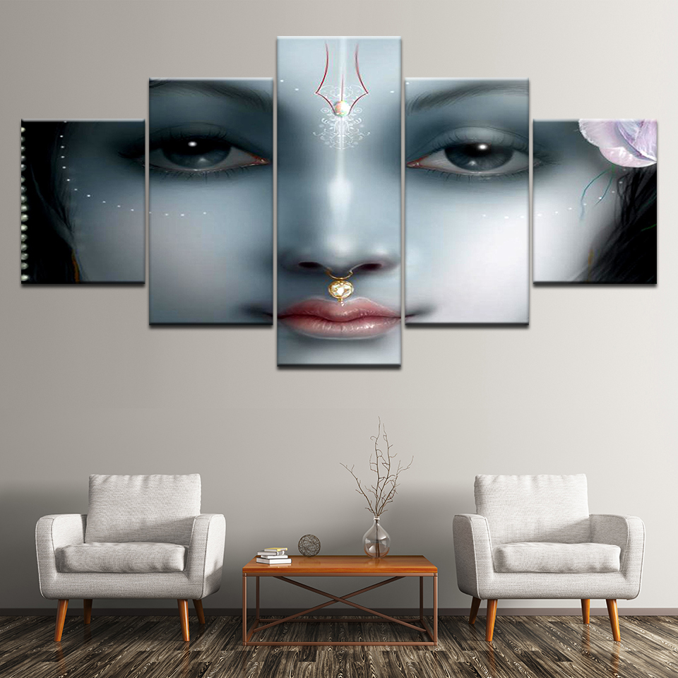 Canvas Painting Hinduism woman religion pictures Wall Art Painting Modular Wallpapers Poster Print for living room Home Decor