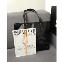Casual PU Leather Tote Handbag