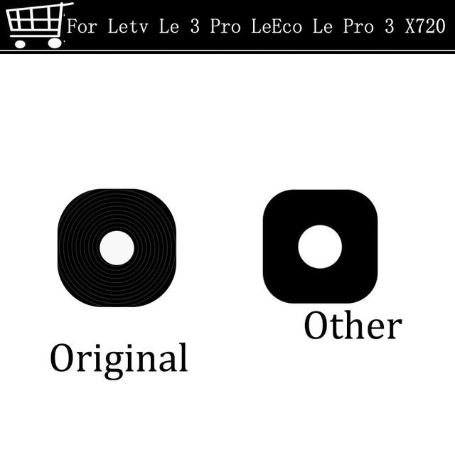 2 unids envío libre para le 3 pro leeco le letv pro 3 x720 pro 2X620 Trasera Cámara Trasera Lente de Cristal con Adhesivo Parte